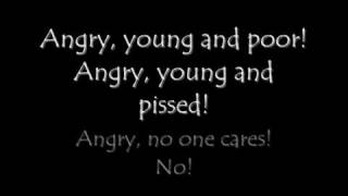Anti Flag - Angry, Young and Poor (Lyrics)