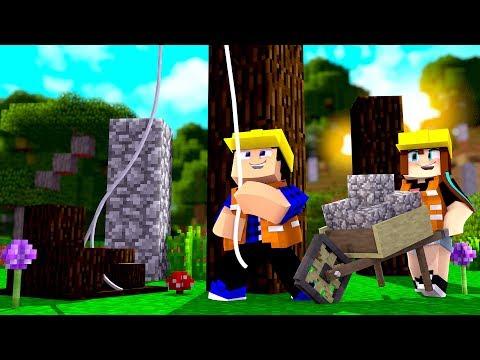 DANDO INÍCIO A NOSSA CASA! - Minecraft Infinito #03