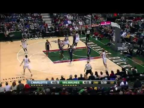 NBA // Charlotte Bobcats @ Milwaukee Bucks // 01.04.13 // First Half Highlights // NBA Maniacs