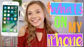 What's On  My iPhone 2017 | Sasha Morga