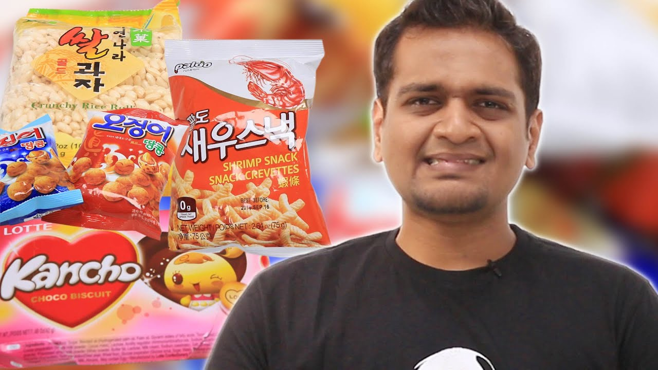 Indians Try Korean Snacks thumbnail