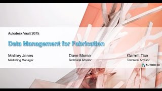 Webinar: Data Management for Fabrication