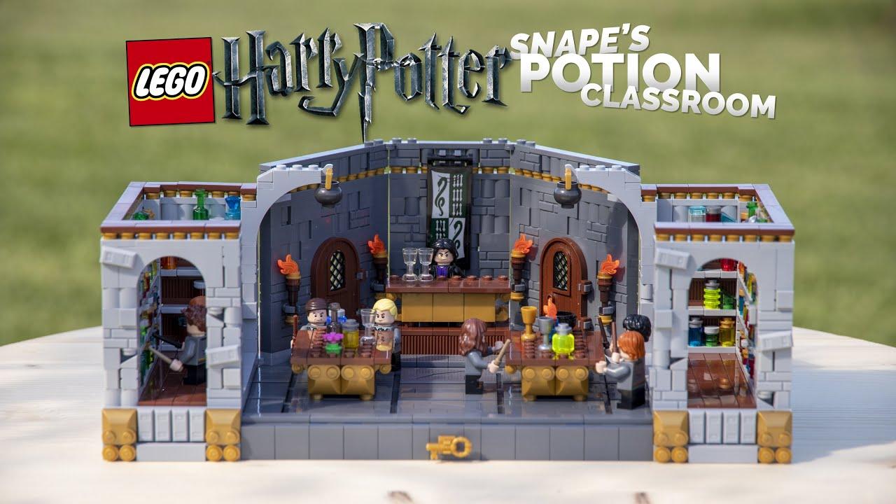 LEGO Harry Potter Hogwarts Potion Class MOC! // Snape's Dungeon Classroom Build
