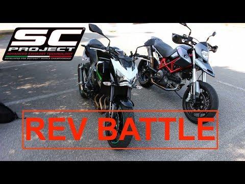 REV BATTLE Kawasaki Z800 vs Ducati Hypermotard 796