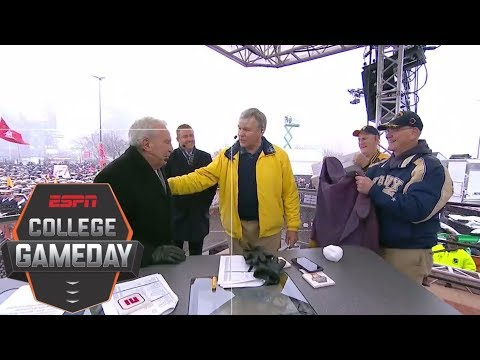 Lee Corso gets emotional when visited by former Navy players | College GameDay | ESPN