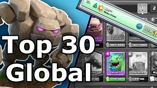 TOP 30 GLOBAL | Golem Ladder Deck | Clash Royale