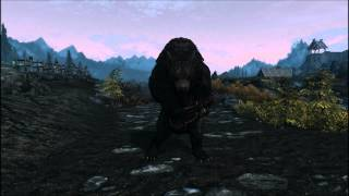 Bear Playing Lute in Skyrim.