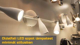 Videó: Oldalfali LED szpot lámpatest minimál stílusban (fekete-fehér) Single/Double/Triple