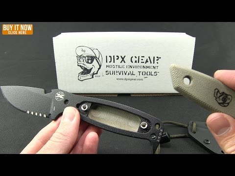 "DPx H.E.S.T. Original Fixed Blade Knife Micarta (3.125"" Black Serr)"
