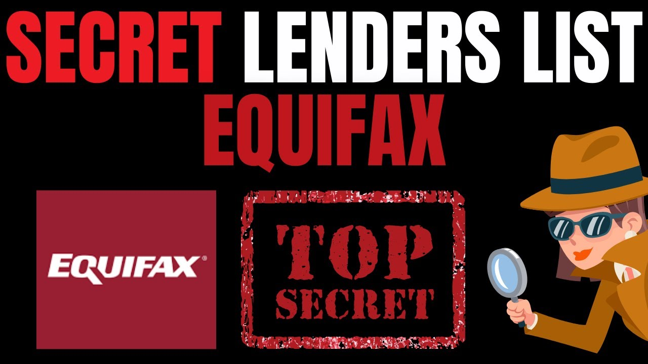 EQUIFAX TRICK LENDING INSTITUTION LIST|BANKS and CREDIT Cards That PULL From Equifax (MUST ENJOY) thumbnail
