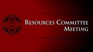 Resource Committee Meeting - 8/10/2015