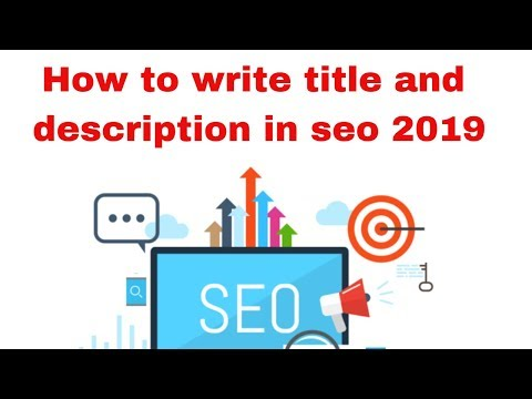 How to write title and description in seo 2019