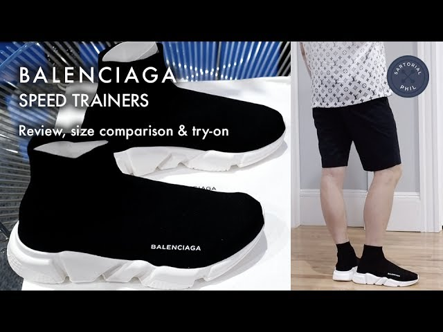 b0bf9ea08fdf Balenciaga Men's Speed Trainers (Sock Knit): Review, size comparison &  try-on 07:37 89,573