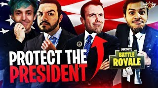PROTECT THE PRESIDENT CHALLENGE! w/ Ninja, Dr.Lupo, and BasicallyIDoWrk! (Fortnite: Battle Royale)