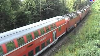 preview picture of video 'Messzug mit 5 E-Loks auf der Geislinger Steige, 19.09.2009.'