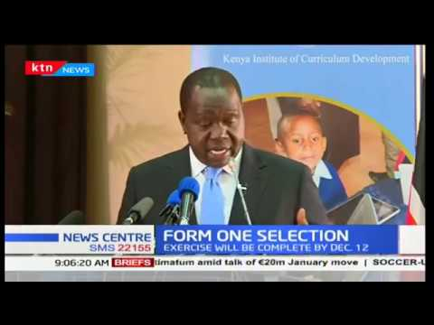 Form one selection for KCPE 2017 candidates to be completed early December