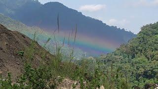 preview picture of video 'Beautiful Rainbow on Bodak Pasighat   Arunachal pradesh   Siang River vlog'