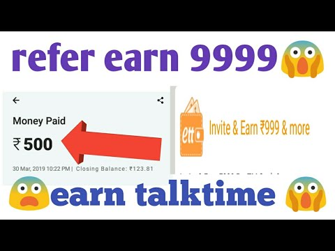 Earn talktime install and earn 999 rupees | earn talktime app se paise kaise kamaye | earn talktim