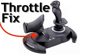 Thrustmaster T-Flight smooth throttle fix