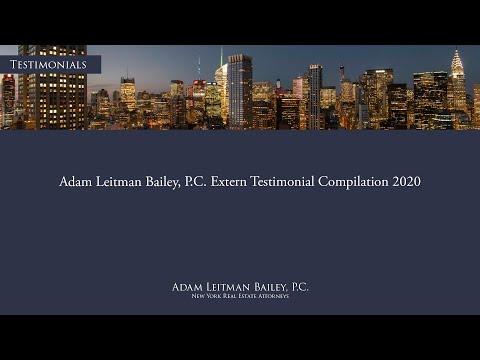 Adam Leitman Bailey, P.C. Extern Testimonial Compilation 2020 testimonial video thumbnail