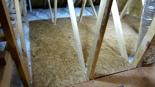 HOW TO CREATE STORAGE SPACE IN YOUR ATTIC PART 2 EASY DIY