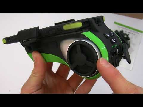 Presentazione+Asta eBay: Supporto smartphone Elated 8 funzioni per bicicletta, speaker bluetooth LED