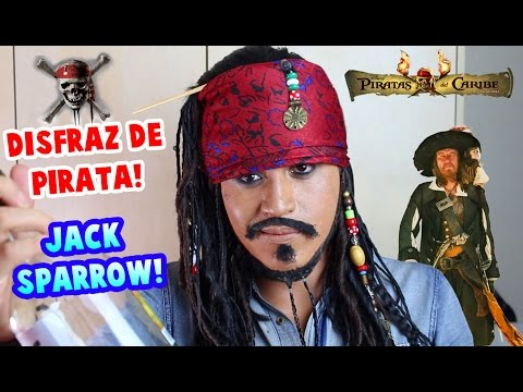 Disfraz de JACK SPARROW para Halloween | Disfraz de PIRATA | Maquillaje de JACK SPARROW!