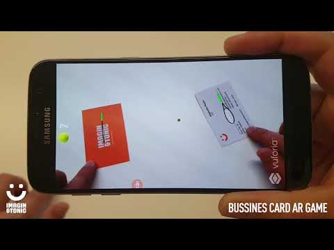 Bussines cards in augmented reality