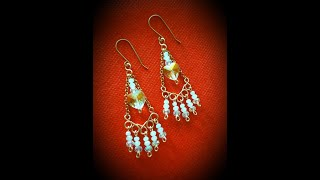 Chandelier Earrings Using Beebeecraft Supplies Part A - Cheryl St.Pierre Of Majestic Wire Artworks
