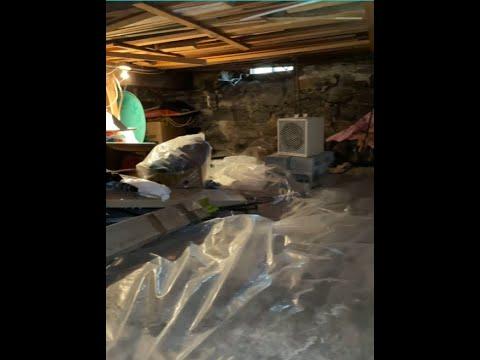 Inspection d'un vide sanitaire humide par notre spécialiste Jerry