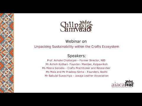 #2 Shilp Samvaad on Sustainability in the Crafts Ecosystem & Explore Resilience-Building Strategies
