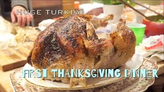 My First Thanksgiving Dinner Experience! (with local American) @ U.S.A.