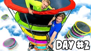LAST TO LEAVE GIANT TRAMPOLINE TOWER WINS (deleted video)