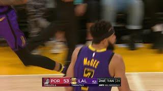 2nd Quarter, One Box Video: Los Angeles Lakers vs. Portland Trail Blazers