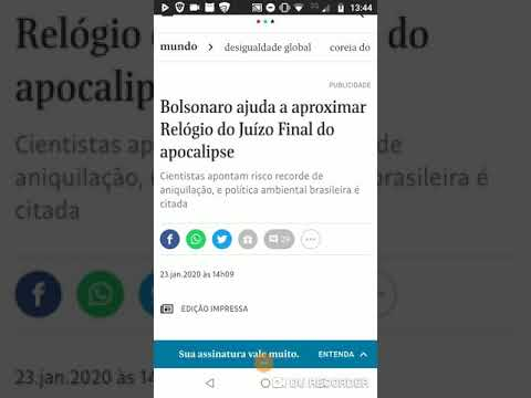 Folha de SP: Bolsonaro aproxima relógio do juízo final do apocalipse! [Fake news]