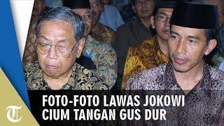 Viral Foto-foto Lawas Jokowi Cium Tangan Gus Dur saat Masih Jadi Walikota Solo