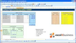 Excel Basics -020- Project - Commission Spreadsheet - VLOOKUP using Ranges