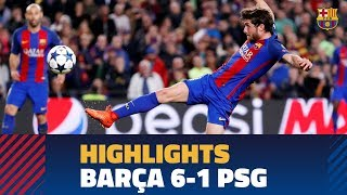 FC BARCELONA 6-1 PSG   Match highlights