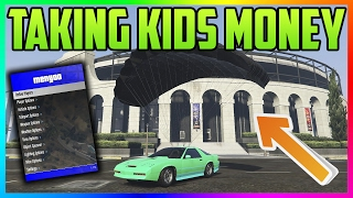 "GTA 5 Online: ""MOD MENU TROLLING - TAKING KIDS MONEY"" #56 (GTA 5 MODS)"