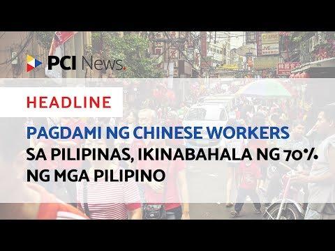 Pagdami ng Chinese workers sa Pilipinas, ikinabahala ng 70% ng mga Pilipino