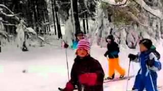 preview picture of video 'Sportunterricht in Sayda ... natürlich auf Skilanglaufski ;-)'