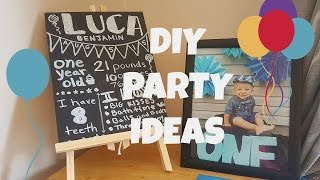 first birthday decor ideas boy