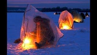 Ночная зимняя рыбалка на плотву
