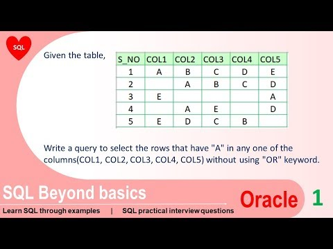 Oracle sql practice exercises with solutions
