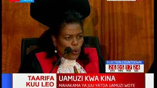 Justice Njoki Ndung'u's verdict on the use of technology during the general elections
