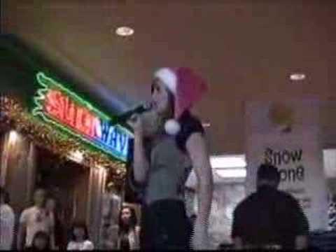 Santa Baby by Madonna * Christen Sawyer singing