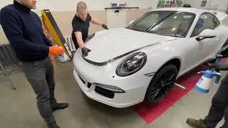 Porsche 911 Carrera 4GTS. XPEL ultimate plus. WND. Оклеиваем пленкой.