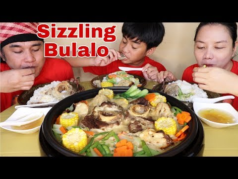 Sizzling Bulalo with mixed steamed vegetables and Chicken w/ delicious Homemade Gravy Pinoy Mukbang!