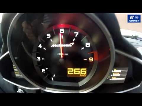 2014 McLaren 650 S / acceleration 0-186 mph /  Beschleunigung 0-300 kph / kmh / Tachovideo