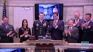 Medal Of Honor Recipient Former U.S. Army Staff Sgt. Ryan M. Pitts Rings The Closing Bell